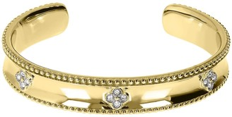 Steel by Design Goldtone Average Crystal Floral Cuff