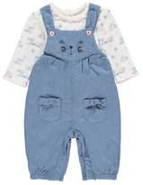 George Bunny Dungarees and Top Set