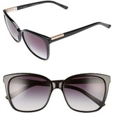 Ted Baker Women's 54Mm Gradient Lens Square Sunglasses - Black