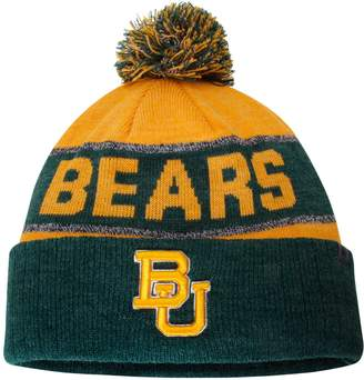 Top of the World Unbranded Youth Gold Baylor Bears Below Zero Cuffed Knit Hat With Pom