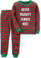 Carter's 2-Pc. Never Naughty Striped Cotton Pajama Set, Baby Boys (0-24 months)