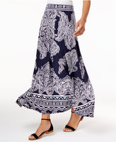 INC International Concepts Printed Maxi Skirt, Created for Macy's