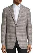 Canali Checked Wool Blazer