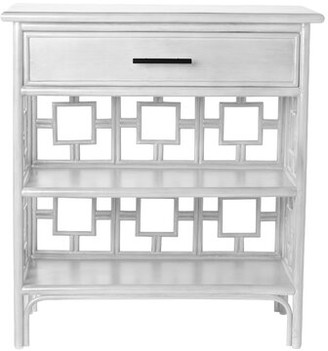 David Francis Furniture Sobe End Table with Storage Color: Bright White