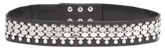 Christopher Kane Crystal And Metal-embellished Leather Belt - Black Silver