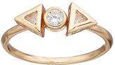 Lauren Conrad Cubic Zirconia Geometric 3-Stone Ring