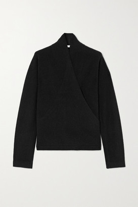 Vince Wrap-effect Cashmere Sweater - Black