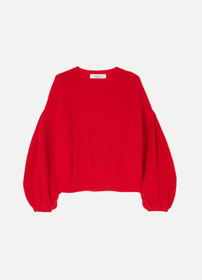Valentino Wool And Cashmere-blend Sweater - Red