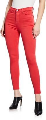 J Brand Alana High-Rise Cropped Skinny Jeans