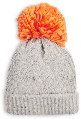 Topshop Chevron Knit Pom-Pom Beanie