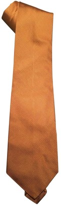 Prada Gold Silk Ties