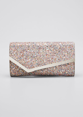 Jimmy Choo Emmie Luminous Glitter Clutch Bag