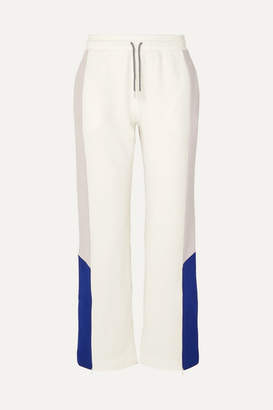Ninety Percent + Net Sustain Color-block Organic Cotton-jersey Track Pants - White