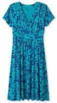 L.L. Bean Womens Summer Knit Dress, Short-Sleeve Bifloral
