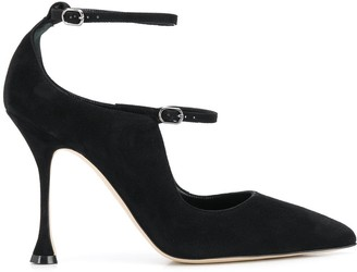 Manolo Blahnik Tomiris suede Mary Jane pumps