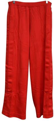 Givenchy Red Polyester Trousers
