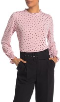 Adrianna Papell Printed Long Sleeve Knit Top
