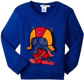 Billybandit Sweatshirt With Patches (Toddler) - Royal Blue - 3A