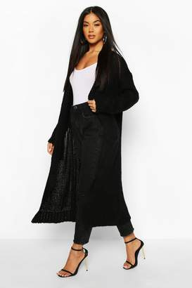 boohoo Maxi Edge To Edge Cardigan