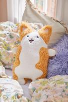 Urban Outfitters Fuzzy Corgi Throw Pillow