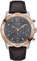 GUESS Two-Tone Brown Chronograph Watch