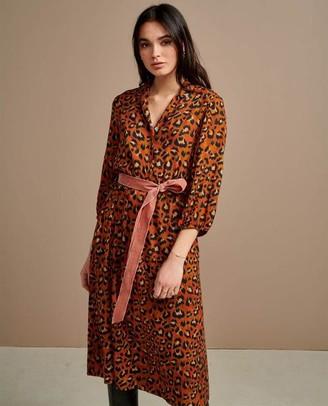 Bellerose Armory Leopard Dress - Size 1 UK8