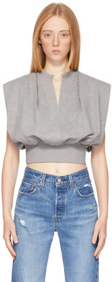3.1 Phillip Lim Grey French Terry Tank Top