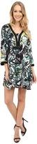 Nic+Zoe Green Graffiti Tunic Dress