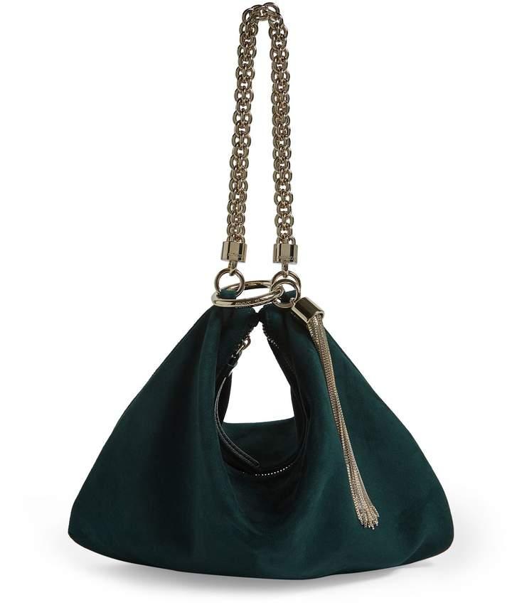Jimmy Choo Medium Suede Callie Clutch Bag