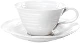 Sophie Conran Ribbed Teacups & Saucers (Set of 4)