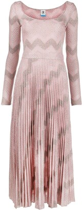 M Missoni Zig-Zag Pattern Knit Dress