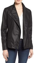 Tahari Women's Kelly Leather Peplum Jacket