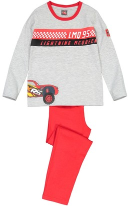Cars Cotton Printed Pyjamas with Long Sleeves, 3-10 Years