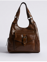 M&S Collection Leather Buckle Hobo Bag