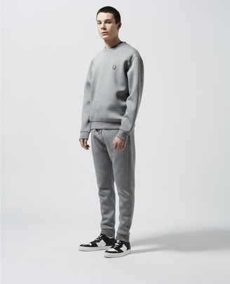 The Kooples Loose grey sweatshirt, crew neck&breast badge