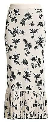 Derek Lam Women's Floral Jacquard Knit Midi Skirt