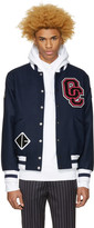 Opening Ceremony Ssense Exclusive Navy Logo Varsity Jacket