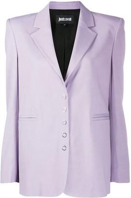 Just Cavalli Square-Shoulder Jacket