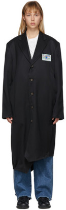 Ader Error Black Wool Gamel Coat