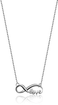"Alex Woo Little Words"" Sterling Silver Infinite Love Pendant Necklace 16"""