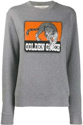 Golden Goose Jaguar Print Crew Neck Sweatshirt
