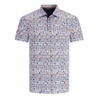 Bugatchi Men's Self Collar Three Button Polo