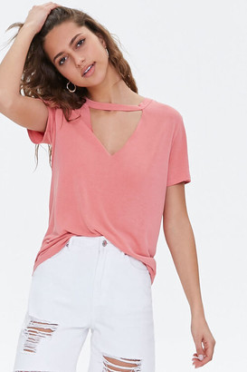 Forever 21 V-Cutout Round Neck Tee
