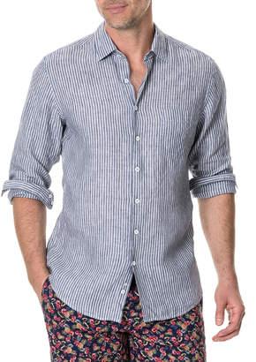 Rodd & Gunn Men's Tweed Street Faded Stripe Sport Shirt