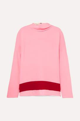 Marni Draped Crepe De Chine Blouse - Pink