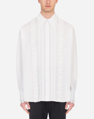 Dolce & Gabbana Gold-Fit Shirt With Crochet Embellishment