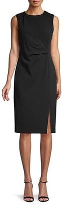 Calvin Klein Front-Slit Sheath Dress