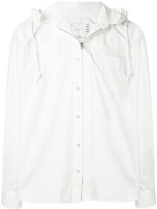 Sacai Hooded Shirt Jacket