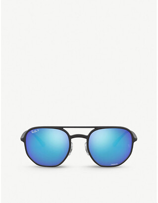 Ray-Ban RB4321CH Chromance acetate hexagonal-frame sunglasses