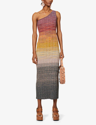 Missoni One-shoulder wool-blend maxi dress